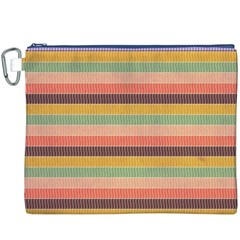 Abstract Vintage Lines Background Pattern Canvas Cosmetic Bag (xxxl)