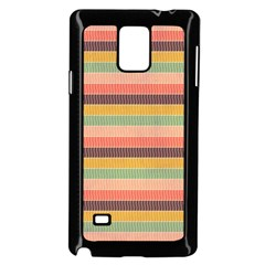 Abstract Vintage Lines Background Pattern Samsung Galaxy Note 4 Case (black)
