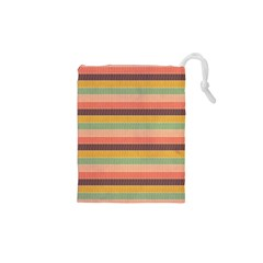 Abstract Vintage Lines Background Pattern Drawstring Pouches (XS)
