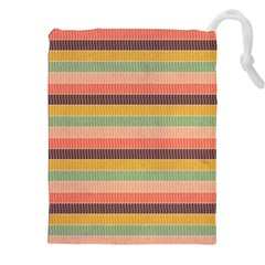 Abstract Vintage Lines Background Pattern Drawstring Pouches (xxl)
