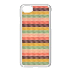 Abstract Vintage Lines Background Pattern Apple iPhone 7 Seamless Case (White)