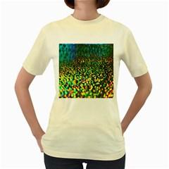 Construction Paper Iridescent Women s Yellow T Shirt