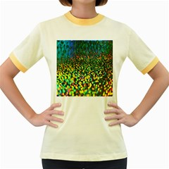 Construction Paper Iridescent Women s Fitted Ringer T Shirts