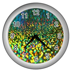 Construction Paper Iridescent Wall Clocks (Silver)