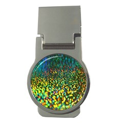 Construction Paper Iridescent Money Clips (round)