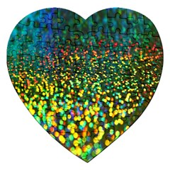 Construction Paper Iridescent Jigsaw Puzzle (Heart)