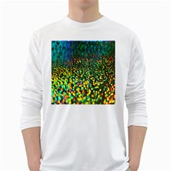 Construction Paper Iridescent White Long Sleeve T Shirts