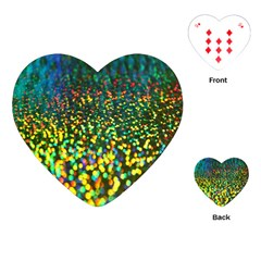 Construction Paper Iridescent Playing Cards (heart)