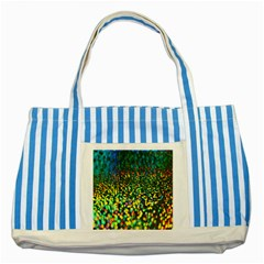 Construction Paper Iridescent Striped Blue Tote Bag
