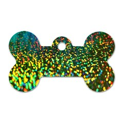 Construction Paper Iridescent Dog Tag Bone (one Side)