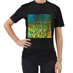 Construction Paper Iridescent Women s T Shirt (black)