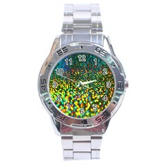 Construction Paper Iridescent Stainless Steel Analogue Watch