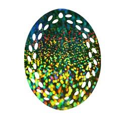 Construction Paper Iridescent Ornament (oval Filigree)