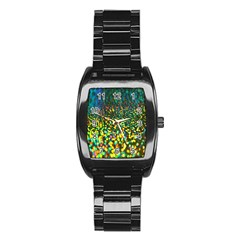 Construction Paper Iridescent Stainless Steel Barrel Watch
