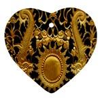 Golden Sun Ornament (Heart) Front