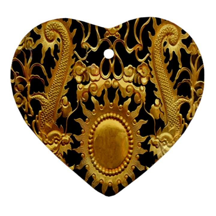 Golden Sun Ornament (Heart)
