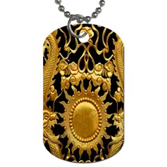 Golden Sun Dog Tag (one Side)