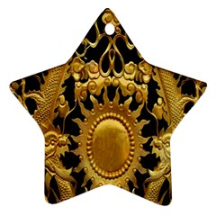 Golden Sun Star Ornament (two Sides)