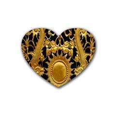 Golden Sun Heart Coaster (4 pack)