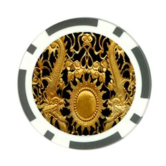 Golden Sun Poker Chip Card Guard (10 Pack)