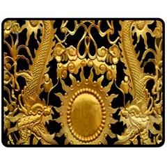 Golden Sun Fleece Blanket (medium)