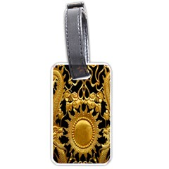 Golden Sun Luggage Tags (one Side)