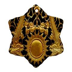 Golden Sun Ornament (snowflake)