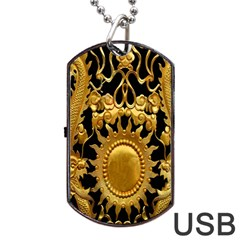 Golden Sun Dog Tag Usb Flash (one Side)