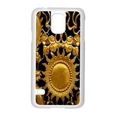 Golden Sun Samsung Galaxy S5 Case (white)