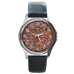 Roof Tiles On A Country House Round Metal Watch