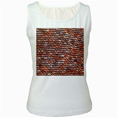 Roof Tiles On A Country House Women s White Tank Top