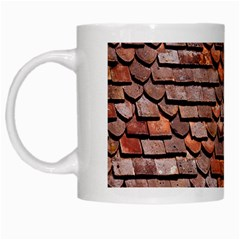Roof Tiles On A Country House White Mugs