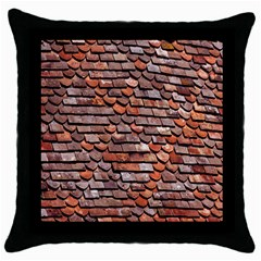 Roof Tiles On A Country House Throw Pillow Case (black)