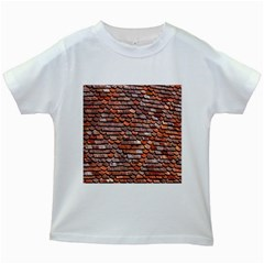 Roof Tiles On A Country House Kids White T Shirts