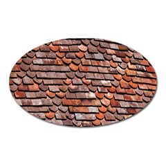 Roof Tiles On A Country House Oval Magnet