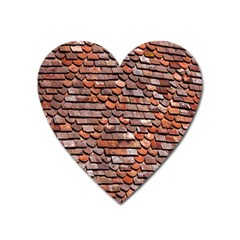 Roof Tiles On A Country House Heart Magnet
