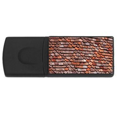 Roof Tiles On A Country House USB Flash Drive Rectangular (2 GB)