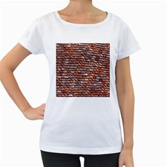Roof Tiles On A Country House Women s Loose Fit T Shirt (white)