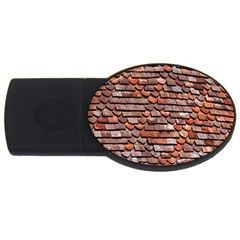 Roof Tiles On A Country House Usb Flash Drive Oval (4 Gb)