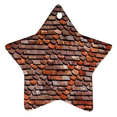 Roof Tiles On A Country House Star Ornament (Two Sides)