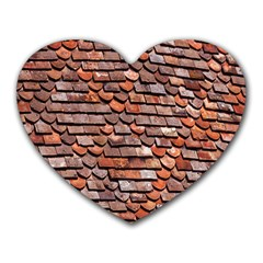 Roof Tiles On A Country House Heart Mousepads