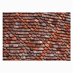 Roof Tiles On A Country House Large Glasses Cloth