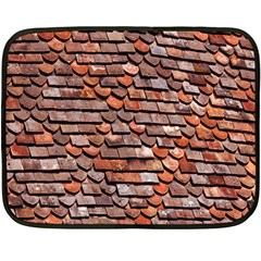 Roof Tiles On A Country House Double Sided Fleece Blanket (mini)