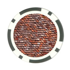 Roof Tiles On A Country House Poker Chip Card Guard (10 Pack)