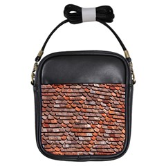 Roof Tiles On A Country House Girls Sling Bags