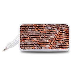 Roof Tiles On A Country House Portable Speaker (white)