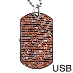 Roof Tiles On A Country House Dog Tag Usb Flash (two Sides)