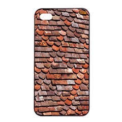Roof Tiles On A Country House Apple Iphone 4/4s Seamless Case (black)