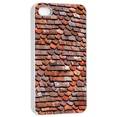 Roof Tiles On A Country House Apple Iphone 4/4s Seamless Case (white)