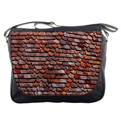 Roof Tiles On A Country House Messenger Bags
